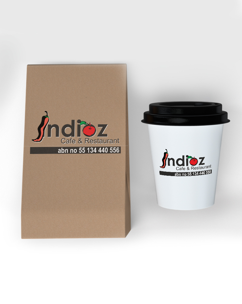 brainwaves – logo design – indioz cafe & Rrestaurant